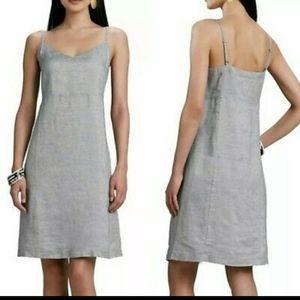 Eileen Fisher Silver Sparkle Linen Dress Size M